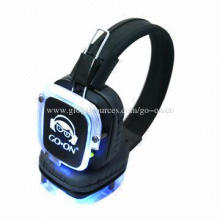 Fantastic LED light RF wireless silent party headphone for DJ and user
