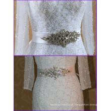 Mais recente Cinturão de casamento removível de cristal para vestido de noiva