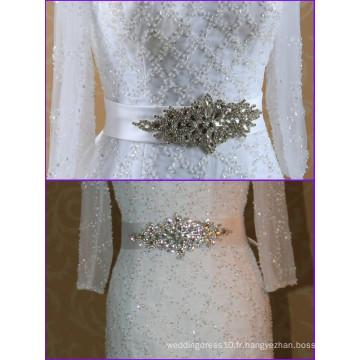 La nouvelle ceinture de mariage en cristal élastique pour la robe de mariée