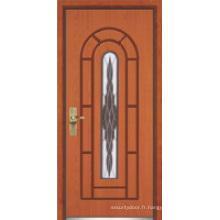 Porte en bois en acier / porte de sécurité (YF-G9015)