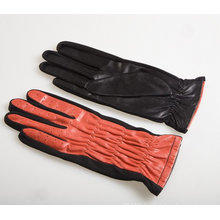 Lady Fashion Sheepskin Leather Driving Gloves (YKY5075)