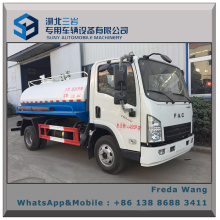 FAW Fac Mini Light 4*2 Sewer Cleaning Truck Fecal or Sewage Suction Truck