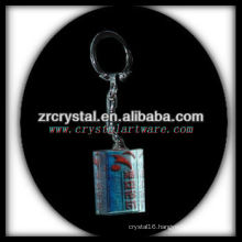 laser etched crystal keychain and blank crystal G061