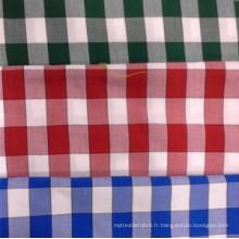 Tissu teint en fil CVC pour hommes et tissus