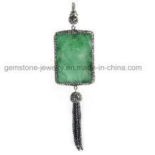 Colgante al por mayor de la piedra preciosa de la joyería del collar de la manera para