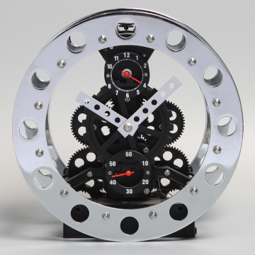 Alarma de metal Bell Gear Clock