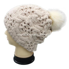 Fashionable Double-Player Hand Knit Chunky Hat