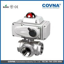 Válvula de bola de actuador eléctrico de tipo L y T de 3 vías para equipos de agua, sistema de control automático de agua