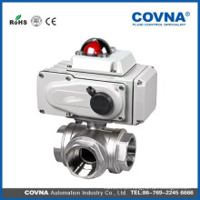 Válvula de esfera do atuador elétrico de 3 maneiras L e de tipo de T para o equipamento da água, sistema de água do auto-controle