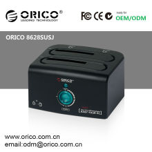 ORICO 8628SUSJ HDD docking station ORICO 8628 SUSJ 2 bay external USB2.0 eSATA Hard Drive caddy HDD case Enclosure