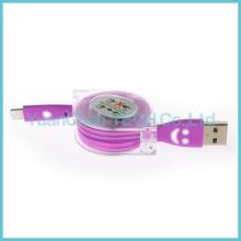 Nuevo cable de datos USB retráctil de carga rápida de 8 pines para iPhone