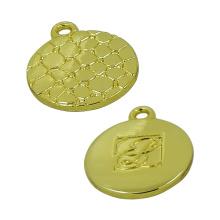 Gold Runde Krokodil Venen Reißverschluss Puller
