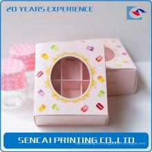 Caja de papel de embalaje de la torta elegante de Sencai