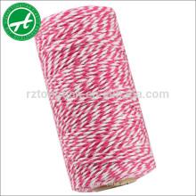 Cuerda de algodón multicolor para panaderos hilo cadena para adornos de bricolaje