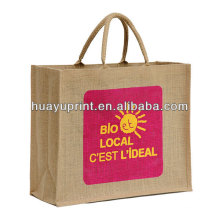 jute shopping bag red jute bag Blue gunny bag AT-1055