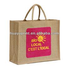 Джутовая сумка для покупок красная джутовая сумка Blue gunny bag AT-1055