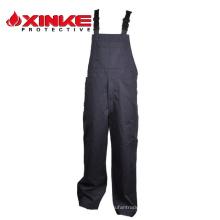 NFPA70E хлопок Трудновоспламеняющийся брюки нагрудник для FR Защитная одежда