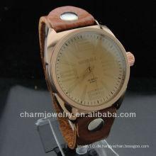 2014 Bestes Geschenk echtes Lederband Liebhaber Uhren WL-028