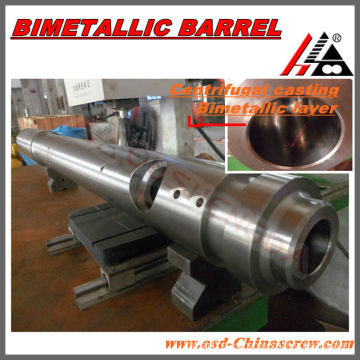 Tornillo y barril de inyección bimetálica de fundición centrífuga