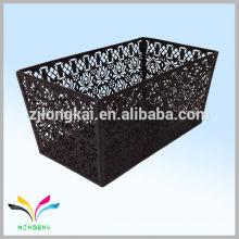WIDENY brand colorful powder coated triangular metal wire iron storage basket