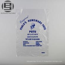 Sacs d'emballage plat imprimés par eco pe promotionnels