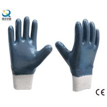Guante de trabajo de seguridad Nitrilo azul resistente (N6039)