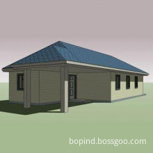 Turnkey House with PVC/MDF Interior Door and 16.7m Length