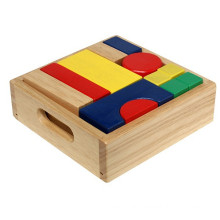 High quality intelligence develop wooden building blocks toy box