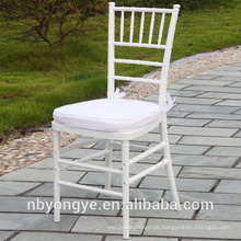 Steel reinforced legs Resin tiffany chair for banquet hall