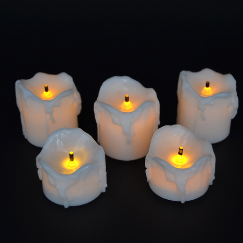 menetes flameless dipimpin tealight lilin
