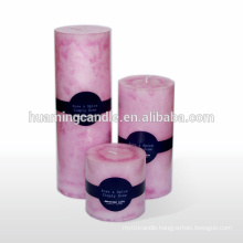 Huaming decorated pillar candles/Wholesale color Pillar Candles /white household candles for decoration