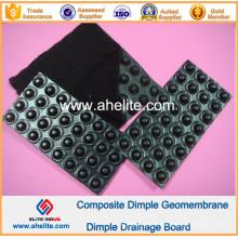 Géomembrane de Dimple de HDPE pour le drainage