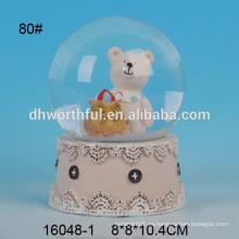 Polo de agua de resina de alta calidad con oso de Navidad
