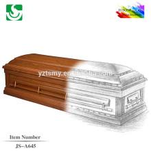 JS-A645 estándar por mayor mejor precio cremación ataúd cama