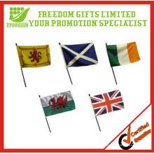 Bandera de mano de plástico impresa logotipo de calidad superior de precio más barato