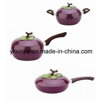 Kitchenware Aluminum Fruit Frying Pan Sauce Pan Sauce Pot Cookware