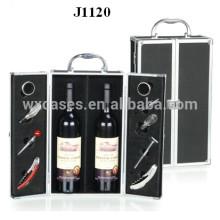 2 bouteilles de vin aluminium case nouveau design de la Chine