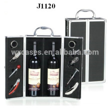 2 bottles aluminum wine box new design from China
