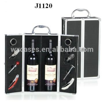 2 бутылки новый дизайн коробки алюминиевые вина из Китая