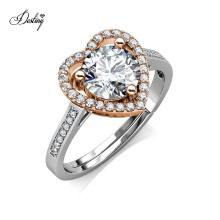 2021 New Lab Diamond Jewelry 925 Sterling Silver 1 Carat Gra Moissanite Love Heart Ring for Women
