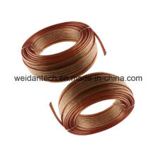 High Quality 100ft Twin AWG16 Clear Speaker Wire