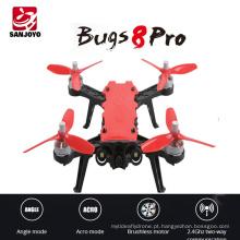 Profissional 2.4G zangão Brushless MJX Bugs 8 PRO de Alta velocidade de Corrida rc Drone Altitude segurar helicóptero Com 3D Flips VS MJX Bugs 8