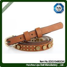 Ceinture en cuir véritable Bracelet manchette vintage Vintage Rivet Cintos de couro Skinny Fashion Women Cowhide