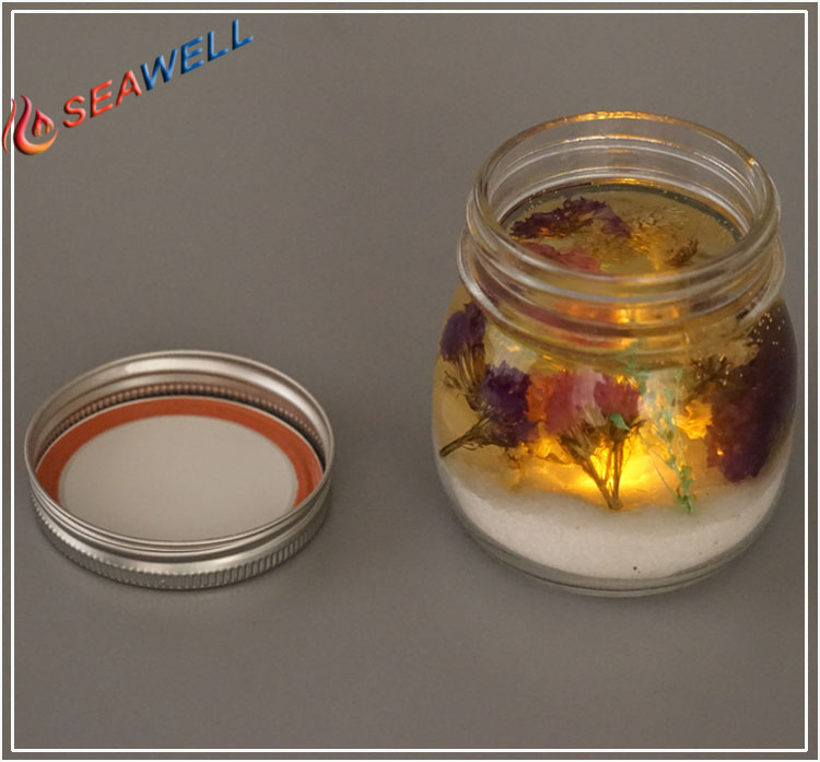 Season Fragrance Glass Jar جرة الصمام شمعة