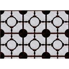 Parquet Pure Ebony Wood Flooring Misturado Mármore Importado