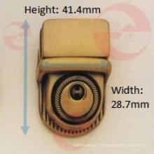Verrou à poussoir à bouton circulaire (R8-132A)