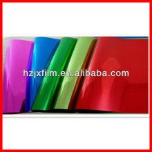 Film de polyester en métal laqué