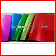 lacquered metal polyester film