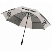 2 layer twin large long umbrella with hole for golf club promotional gift