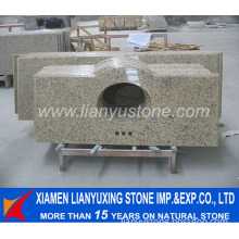 Giallo Ornamental Granite Stone Vanity Top for Bathroom Project
